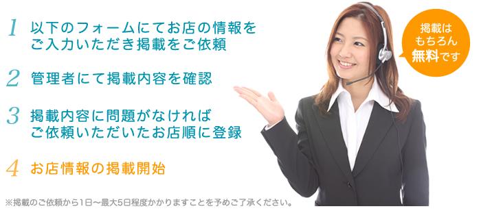 お店情報掲載までの流れ詳細